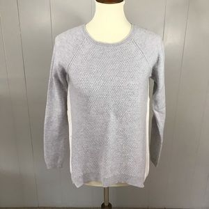 LOFT gray and white colorblock sweater